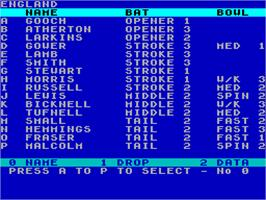 In game image of Robin Smith's International Cricket on the Sinclair ZX Spectrum.