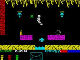 In game image of Robot Messiah on the Sinclair ZX Spectrum.
