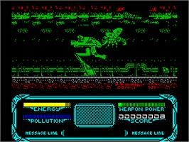 In game image of Robozone on the Sinclair ZX Spectrum.