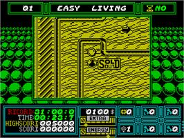 In game image of Rock 'n Roll on the Sinclair ZX Spectrum.