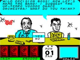 In game image of Rock Star Ate My Hamster on the Sinclair ZX Spectrum.