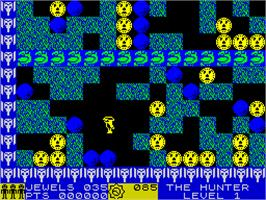 In game image of Rockford: The Arcade Game on the Sinclair ZX Spectrum.