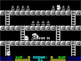 In game image of Rodland on the Sinclair ZX Spectrum.