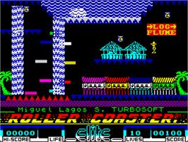 In game image of Roller Coaster on the Sinclair ZX Spectrum.