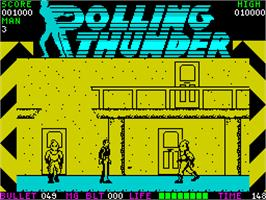 In game image of Rolling Thunder on the Sinclair ZX Spectrum.