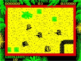 In game image of SAS Combat Simulator on the Sinclair ZX Spectrum.