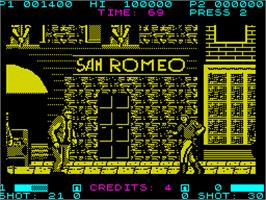 In game image of SWAT on the Sinclair ZX Spectrum.