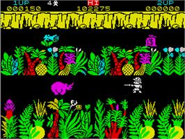 In game image of Sabre Wulf on the Sinclair ZX Spectrum.