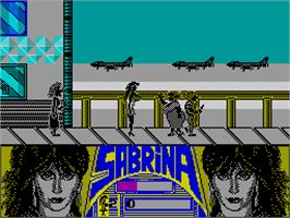 In game image of Sabrina on the Sinclair ZX Spectrum.