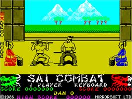 In game image of Sai Combat on the Sinclair ZX Spectrum.