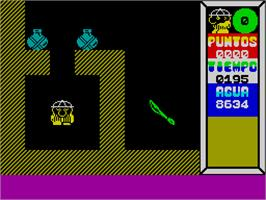 In game image of Saimazoom on the Sinclair ZX Spectrum.