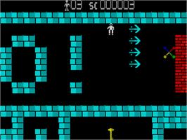 In game image of Saracen on the Sinclair ZX Spectrum.