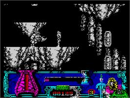 In game image of Satan on the Sinclair ZX Spectrum.