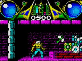 In game image of Savage on the Sinclair ZX Spectrum.