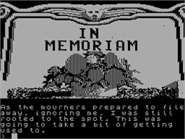 In game image of Scapeghost on the Sinclair ZX Spectrum.