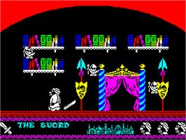 In game image of Sceptre of Bagdad on the Sinclair ZX Spectrum.