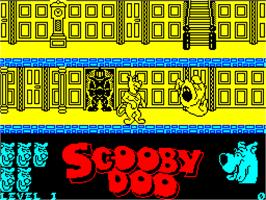 In game image of Scooby Doo on the Sinclair ZX Spectrum.