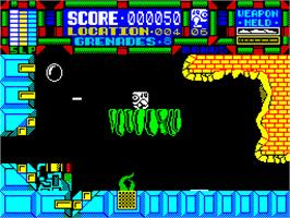 In game image of Scumball on the Sinclair ZX Spectrum.