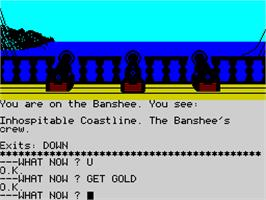In game image of Seas of Blood on the Sinclair ZX Spectrum.