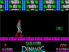 In game image of Sgrizam on the Sinclair ZX Spectrum.