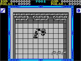 In game image of Shackled on the Sinclair ZX Spectrum.
