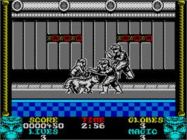 In game image of Shadow Dancer on the Sinclair ZX Spectrum.