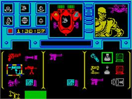 In game image of Shadowfire on the Sinclair ZX Spectrum.
