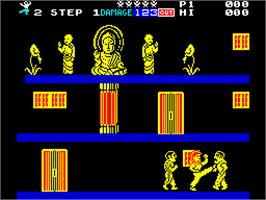 In game image of Shao Lin's Road on the Sinclair ZX Spectrum.