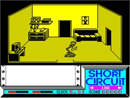 In game image of Short Circuit on the Sinclair ZX Spectrum.