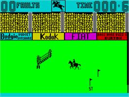 In game image of Show Jumping on the Sinclair ZX Spectrum.