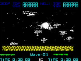 In game image of Silkworm on the Sinclair ZX Spectrum.