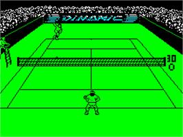 In game image of Simulador Profesional de Tenis on the Sinclair ZX Spectrum.