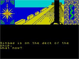 In game image of Sinbad & the Golden Ship on the Sinclair ZX Spectrum.