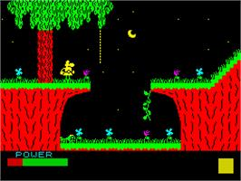 In game image of Sir Fred on the Sinclair ZX Spectrum.