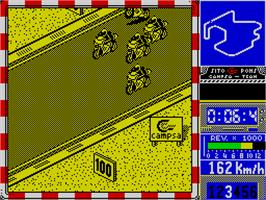 In game image of Sito Pons 500cc Grand Prix on the Sinclair ZX Spectrum.