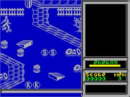 In game image of Skateboard Kidz on the Sinclair ZX Spectrum.