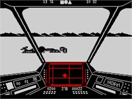 In game image of Skyfox on the Sinclair ZX Spectrum.
