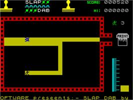 In game image of Slap Dab on the Sinclair ZX Spectrum.