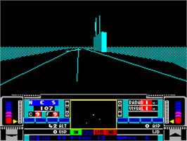 In game image of Snowstrike on the Sinclair ZX Spectrum.