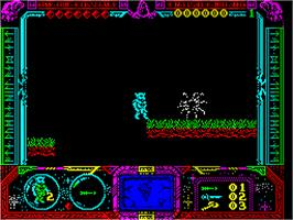 In game image of Soldier of Fortune on the Sinclair ZX Spectrum.