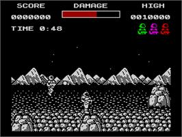 In game image of Soldier of Light on the Sinclair ZX Spectrum.