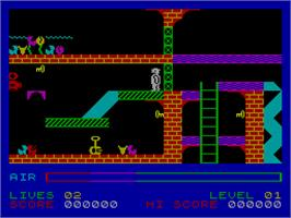 In game image of Son of Blagger on the Sinclair ZX Spectrum.