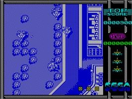 In game image of Sonic Boom on the Sinclair ZX Spectrum.