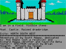 In game image of Sorcerer of Claymorgue Castle on the Sinclair ZX Spectrum.