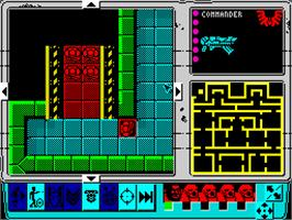 In game image of Space Crusade on the Sinclair ZX Spectrum.