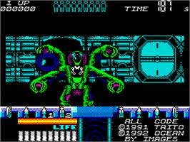 In game image of Space Gun on the Sinclair ZX Spectrum.