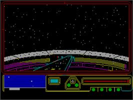 In game image of Space Station Oblivion on the Sinclair ZX Spectrum.