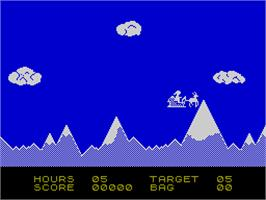 In game image of Special Delivery: Santa's Christmas Chaos on the Sinclair ZX Spectrum.