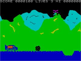 In game image of Speed Buggy on the Sinclair ZX Spectrum.