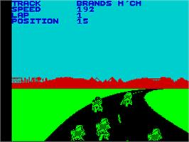 In game image of Speed King 2 on the Sinclair ZX Spectrum.
